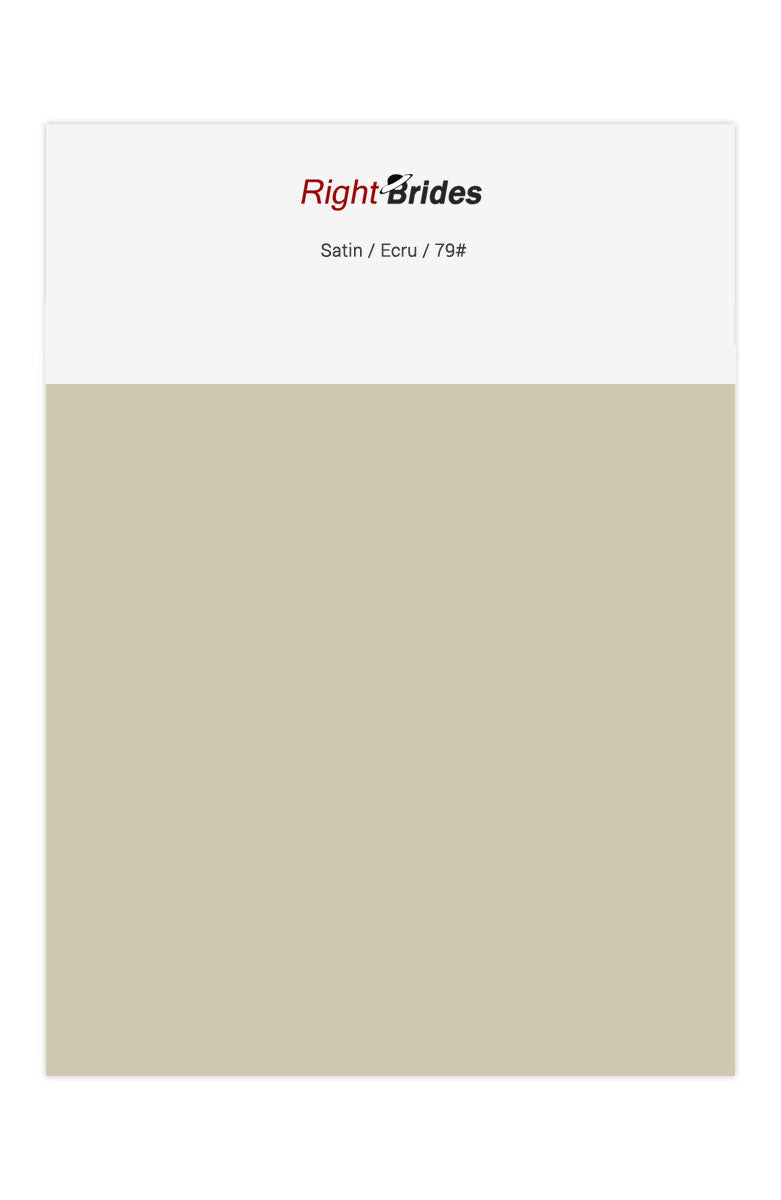 Ecru Color Swatches for Satin Bridesmaid Dresses
