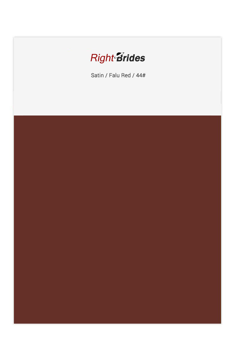 Falu Red Color Swatches for Satin Bridesmaid Dresses