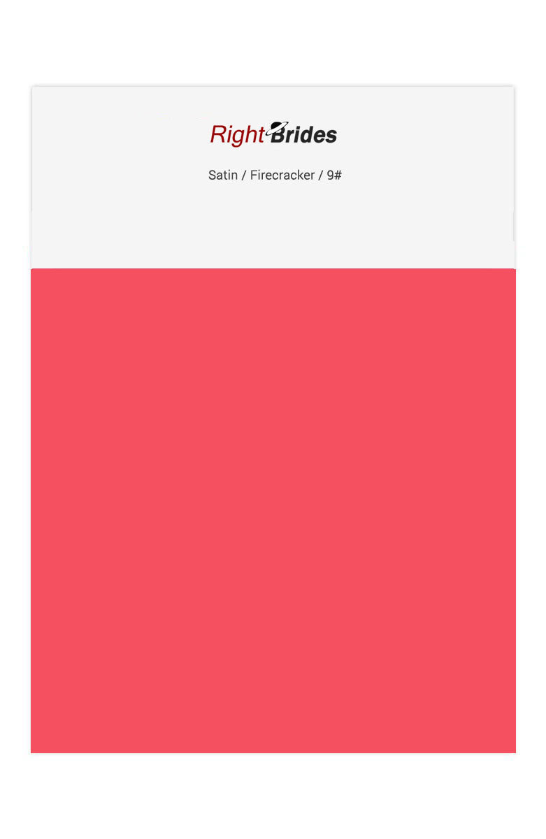 Firecracker Color Swatches for Satin Bridesmaid Dresses