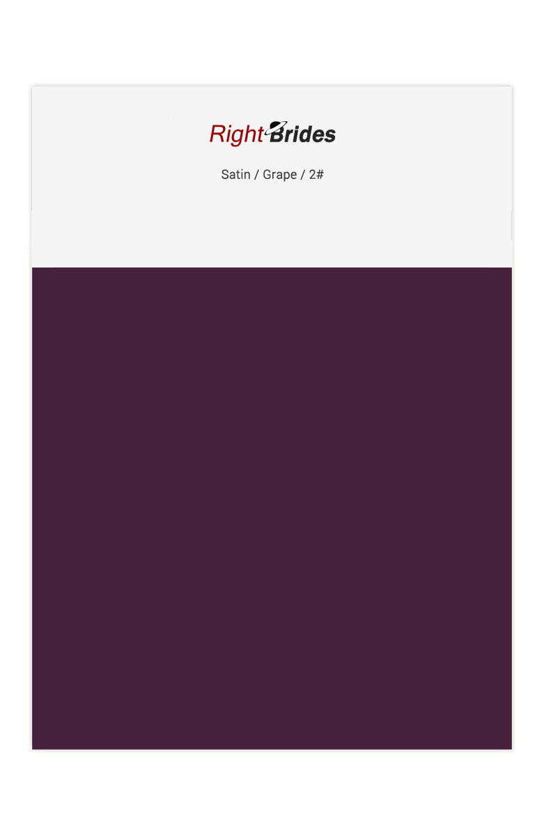 Grape Color Swatches for Satin Bridesmaid Dresses