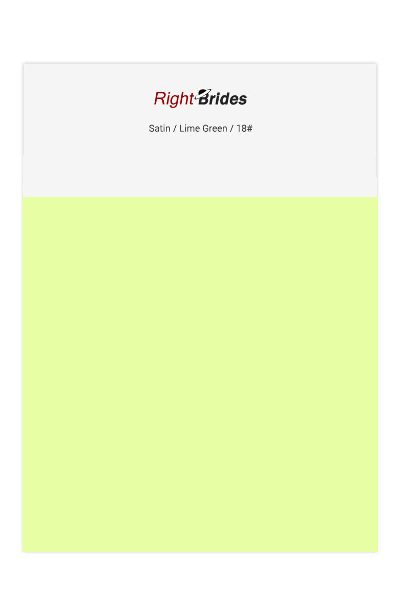 Lime Green Color Swatches for Satin Bridesmaid Dresses