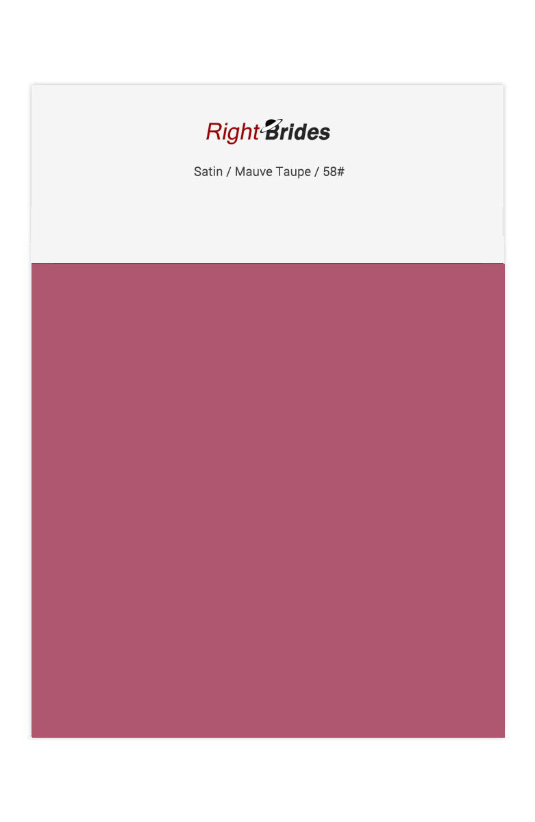 Mauve Taupe Color Swatches for Satin Bridesmaid Dresses