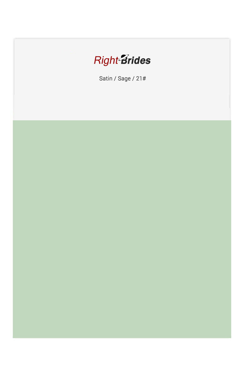 Sage Color Swatches for Satin Bridesmaid Dresses