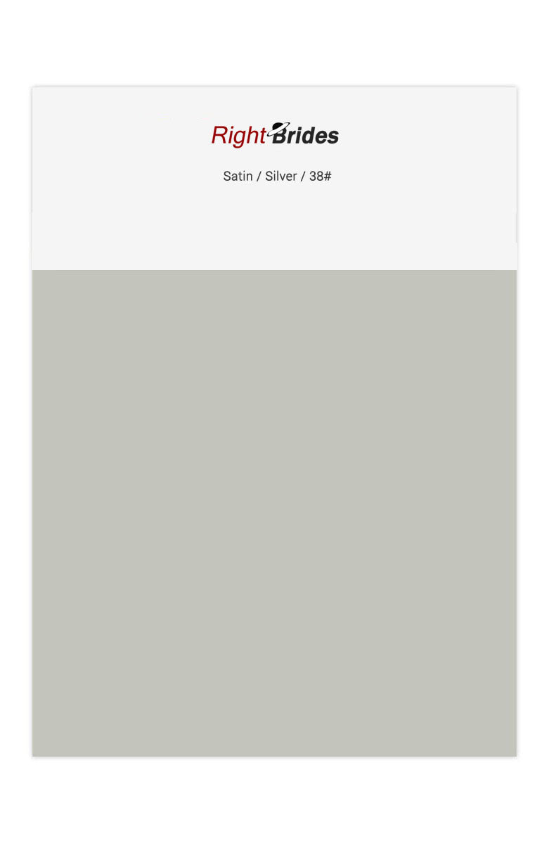 Silver Color Swatches for Satin Bridesmaid Dresses