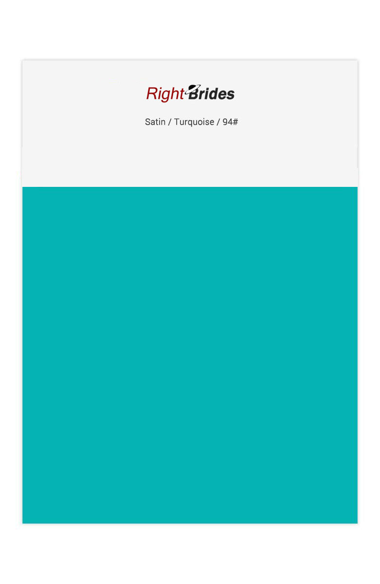 Turquoise Color Swatches for Satin Bridesmaid Dresses