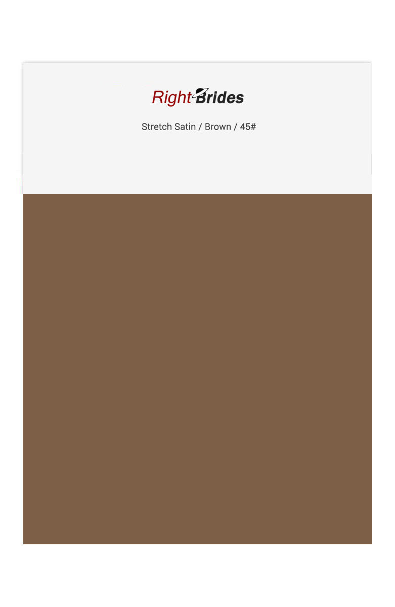 Brown Color Swatches for Stretch Satin Bridesmaid Dresses