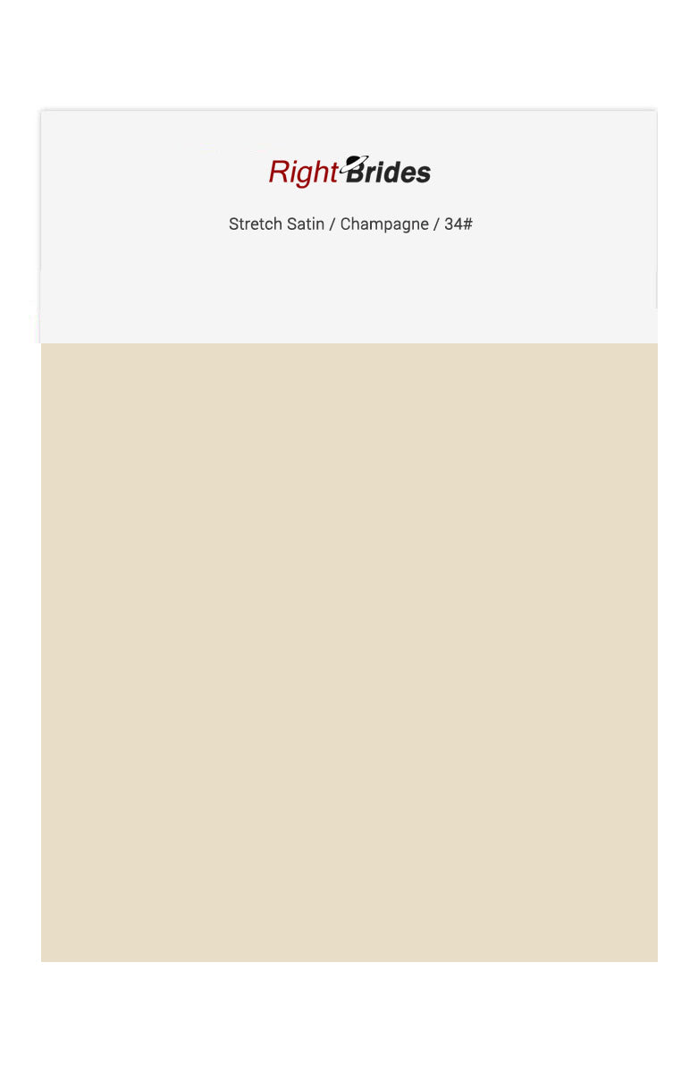 Champagne Color Swatches for Stretch Satin Bridesmaid Dresses