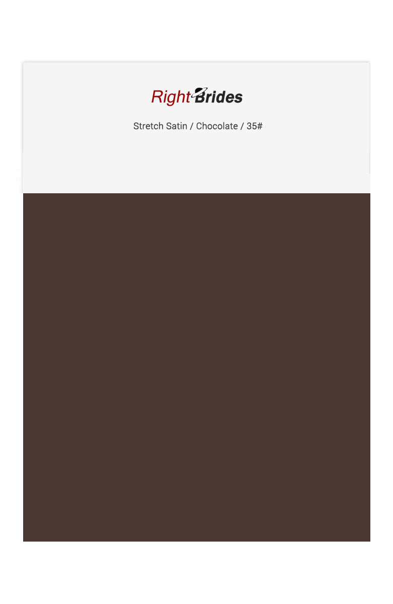 Chocolate Color Swatches for Stretch Satin Bridesmaid Dresses