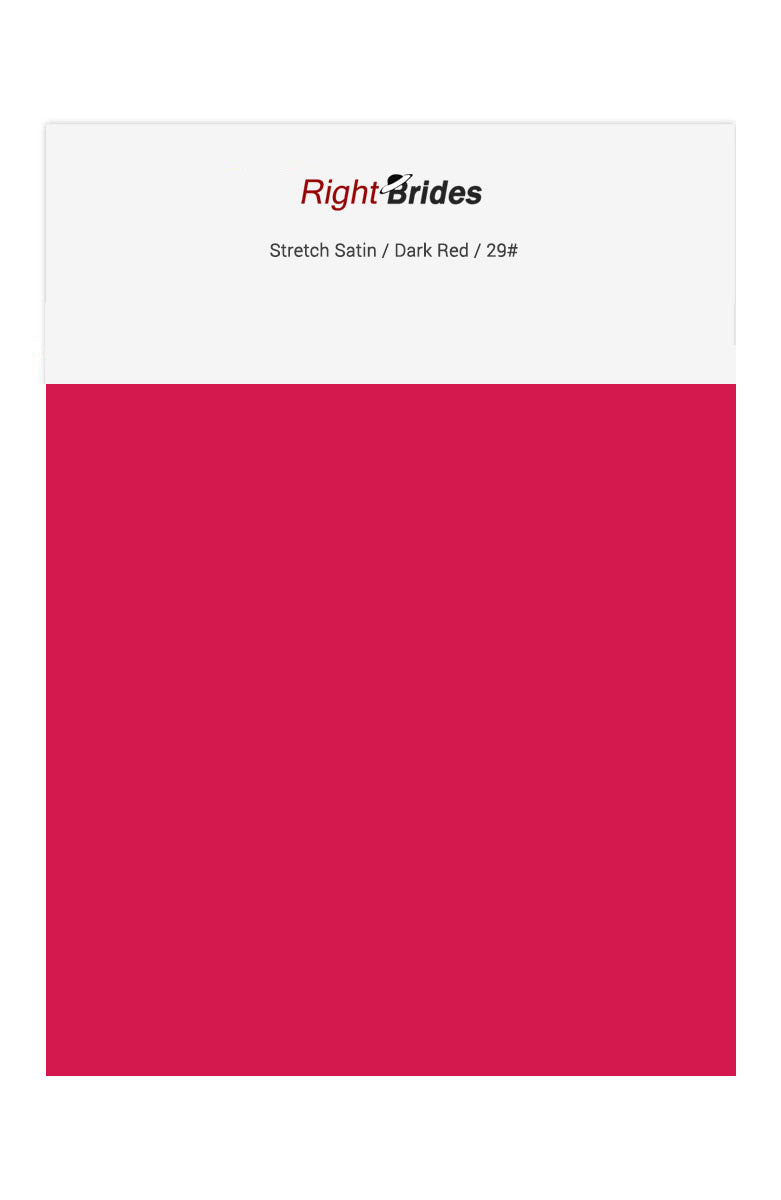 Dark Red Color Swatches for Stretch Satin Bridesmaid Dresses