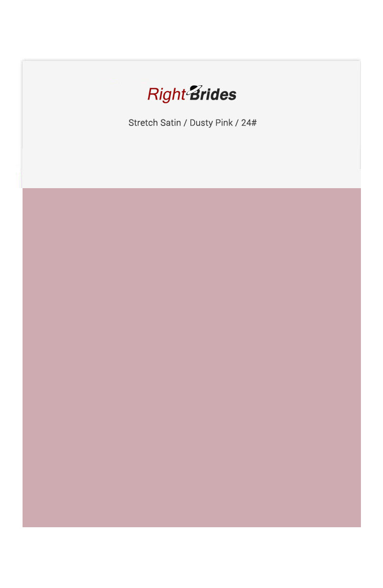 Dusty Pink Color Swatches for Stretch Satin Bridesmaid Dresses