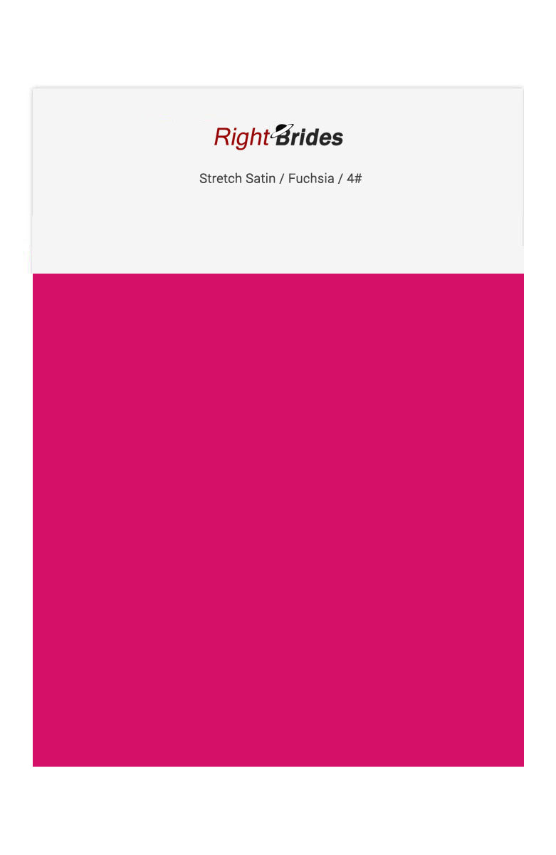 Fuchsia Color Swatches for Stretch Satin Bridesmaid Dresses