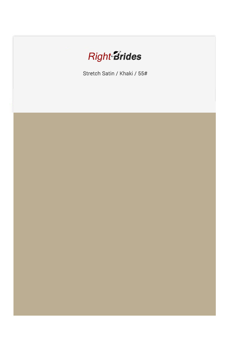 Khaki Color Swatches for Stretch Satin Bridesmaid Dresses