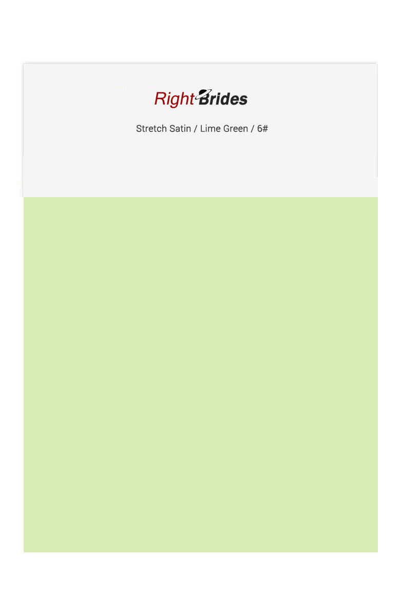 Lime Green Color Swatches for Stretch Satin Bridesmaid Dresses