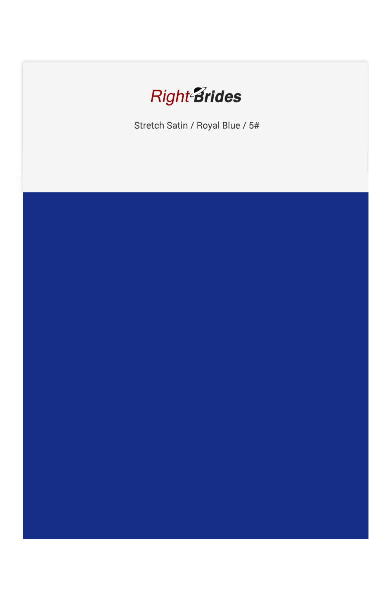 Royal Blue Color Swatches for Stretch Satin Bridesmaid Dresses