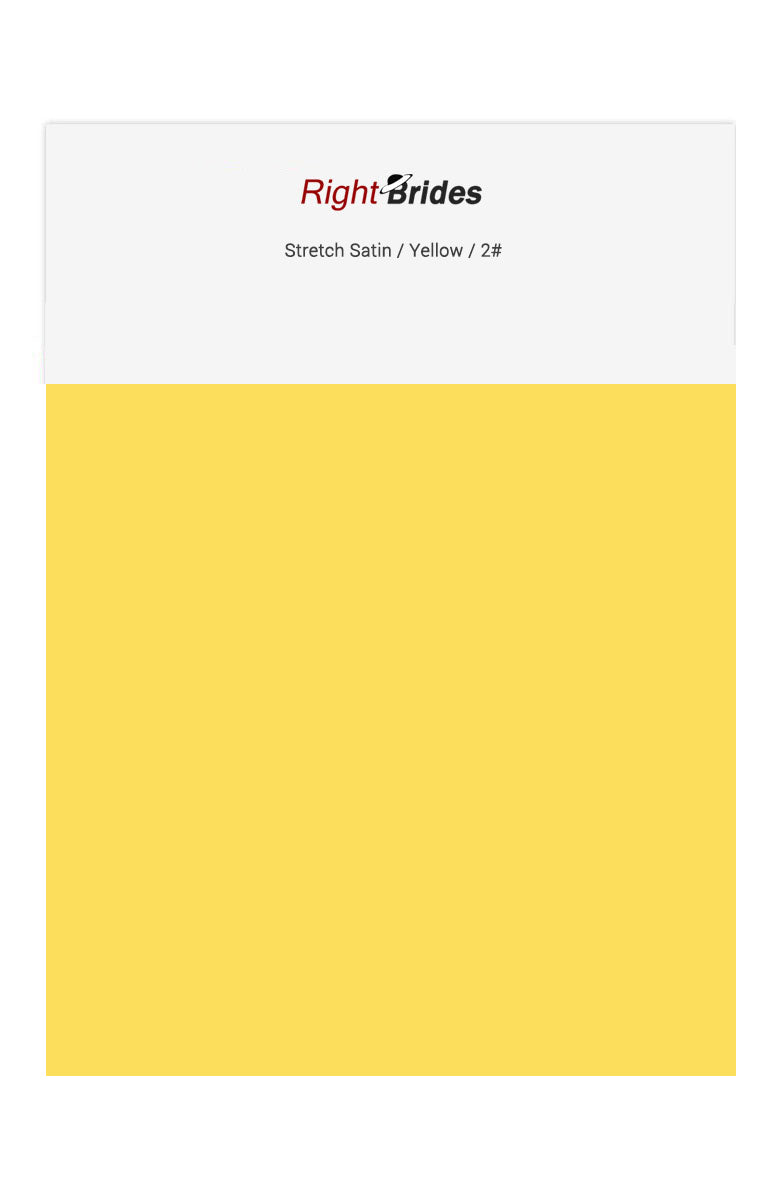 Yellow Color Swatches for Stretch Satin Bridesmaid Dresses