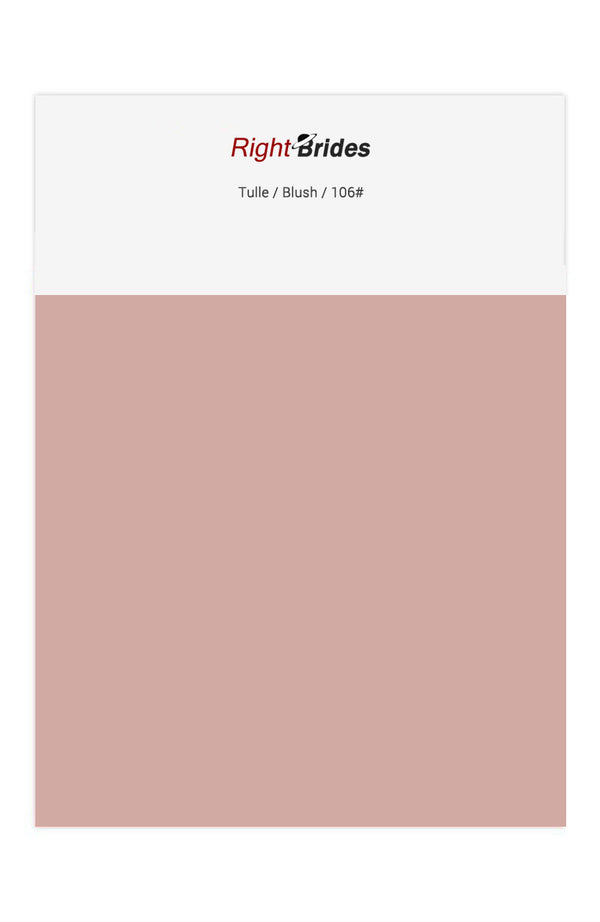 Blush Color Swatches for Tulle Bridesmaid Dresses