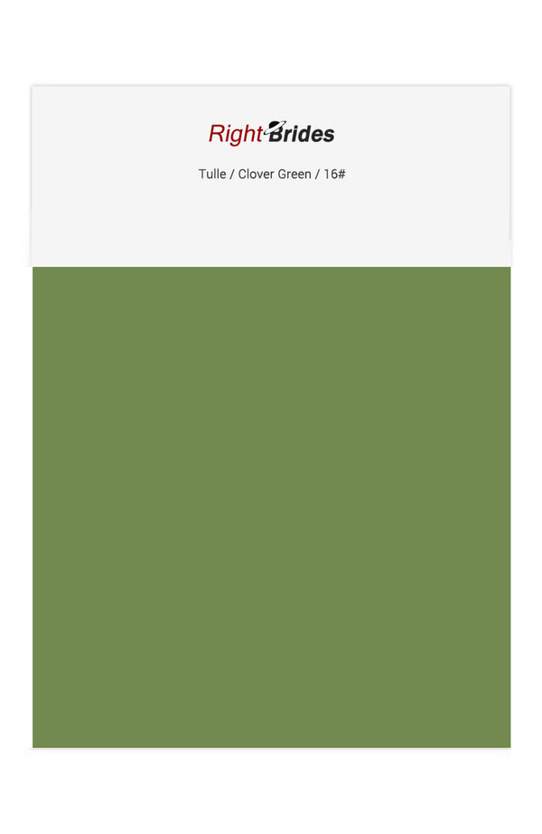 Clover Green Color Swatches for Tulle Bridesmaid Dresses
