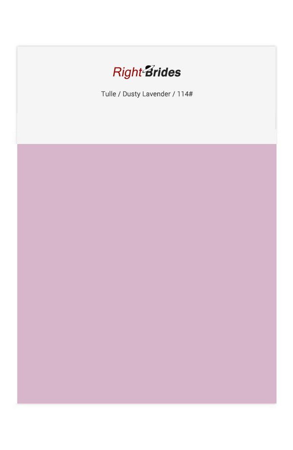 Dusty Lavender Color Swatches for Tulle Bridesmaid Dresses