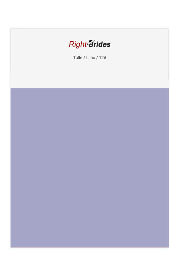 Lilac Color Swatches for Tulle Bridesmaid Dresses