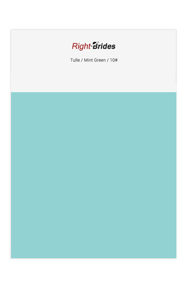 Mint Green Color Swatches for Tulle Bridesmaid Dresses