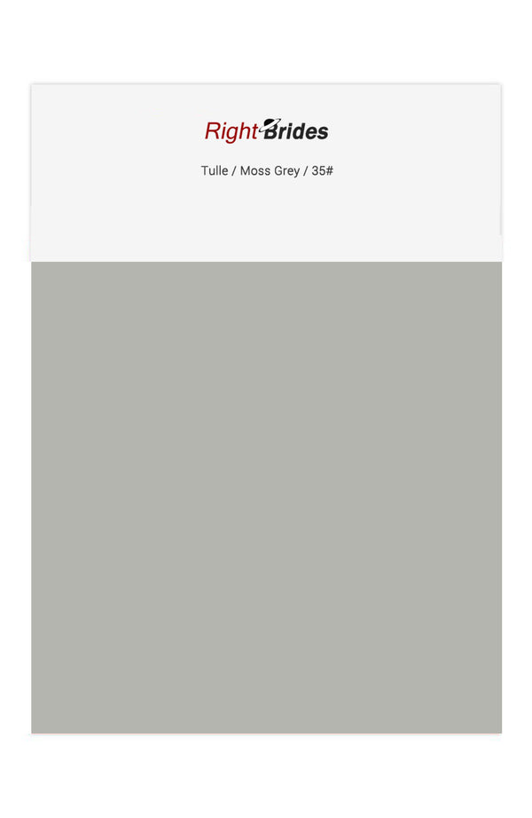Moss Grey Color Swatches for Tulle Bridesmaid Dresses
