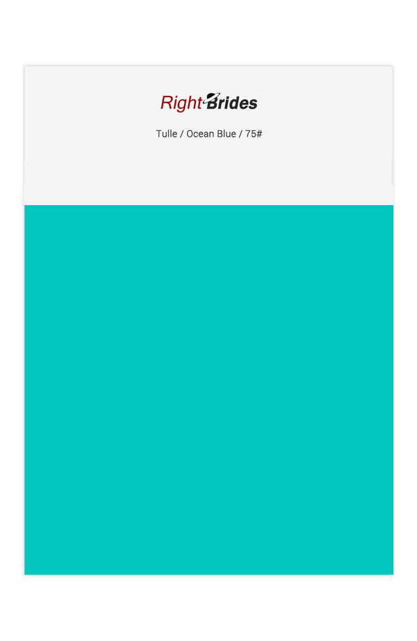 Ocean Blue Color Swatches for Tulle Bridesmaid Dresses