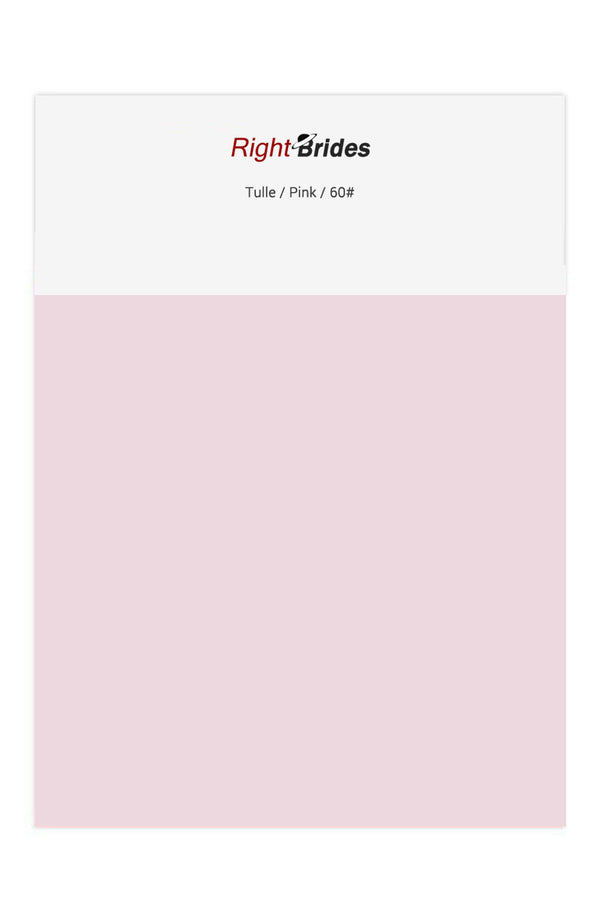 Pink Color Swatches for Tulle Bridesmaid Dresses