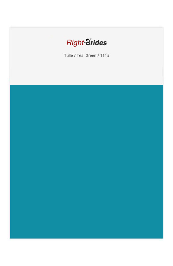 Teal Green Color Swatches for Tulle Bridesmaid Dresses