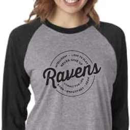 Ravens Never Give Up Baseball Tee