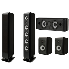 Boston Acoustics M340 5.0 Home Theater Speaker System M340 M25b & Mcenter