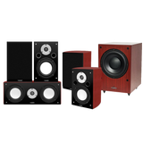 Fluance Xl Series 5.1 High Performance Compact Home Theater Surround Sound Speaker System With Db150 Powered Subwoofer