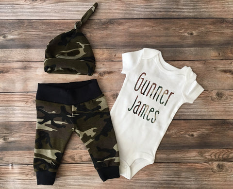 Camo Newborn Coming Home Outfit