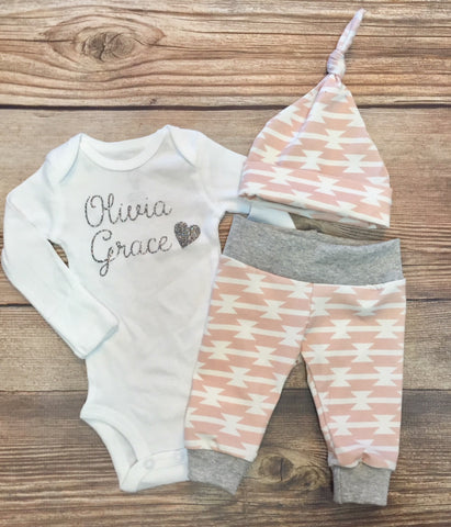 Blush Tom Newborn Girl Coming Home Outfit