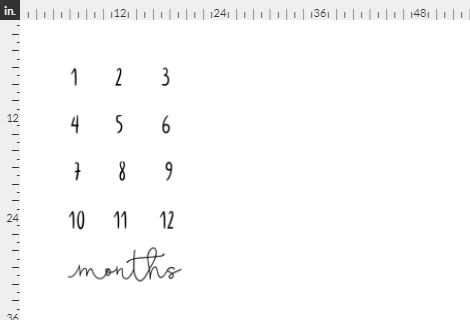 Basic Black and White Milestone Mat