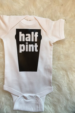 Half Pint Beer Baby Bodysuit Toddler Tee