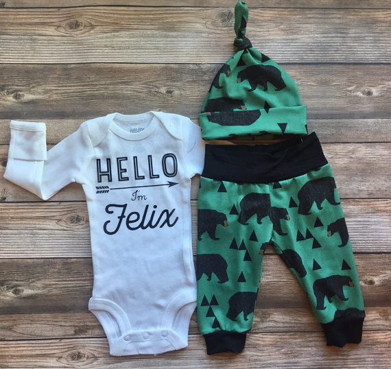 Mountain Bear Newborn Outfit