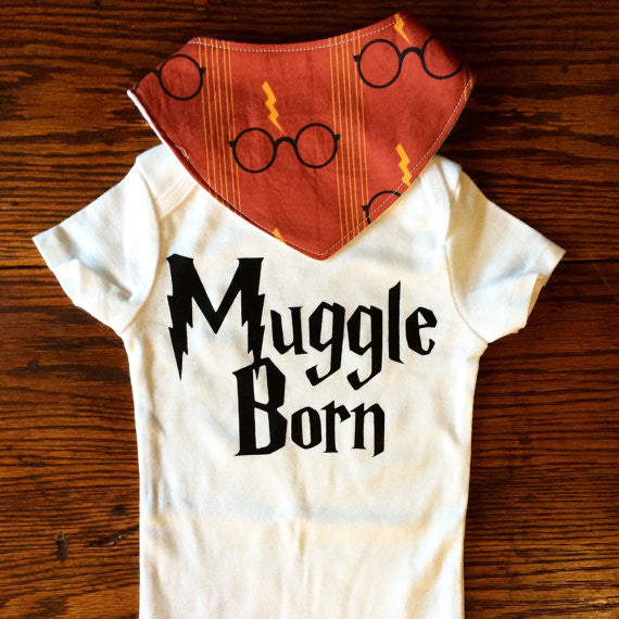 Muggle Born Onesie and Bib Gift Set