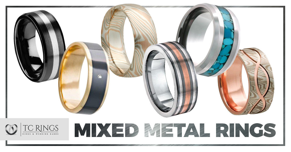 Mixed-Metal Rings & Wedding Bands