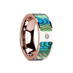 mother of pearl yellow gold ring