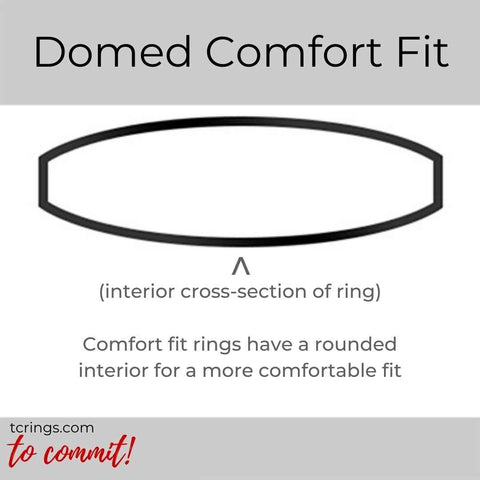 Domed ring profile with comfort fit interior tcrings.com