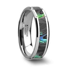 mother or pearl inlay wedding band