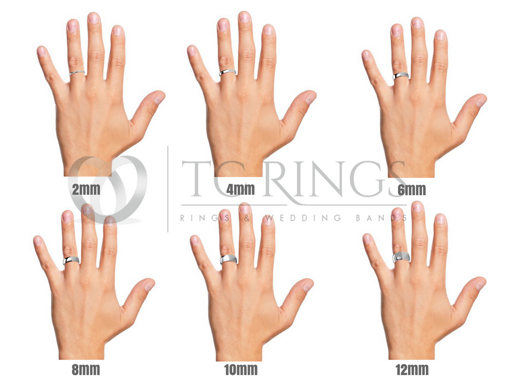 ring widths on a hand