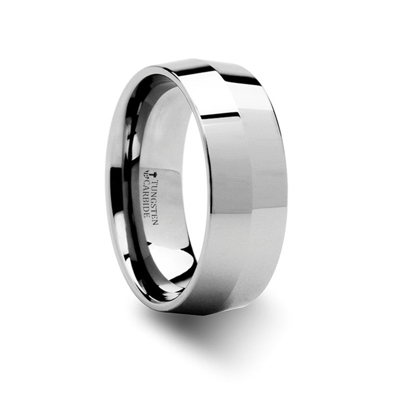 ORLEANS Knife Edge Tungsten Carbide Ring   4mm & 8mm