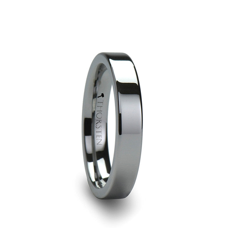 ORWELL | Flat Cut Tungsten Carbide Ring | 2mm, 4mm, 6mm, 7mm, 8mm, 10mm & 12mm - TCRings.com