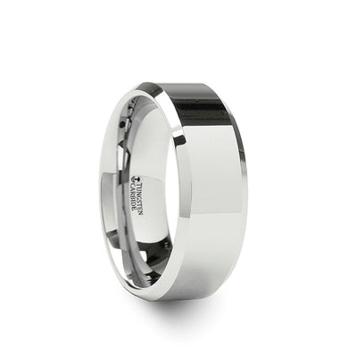 White Tungsten Wedding Ring | Couple's | 4mm, 6mm, 7mm, 8mm, 10mm & 12mm