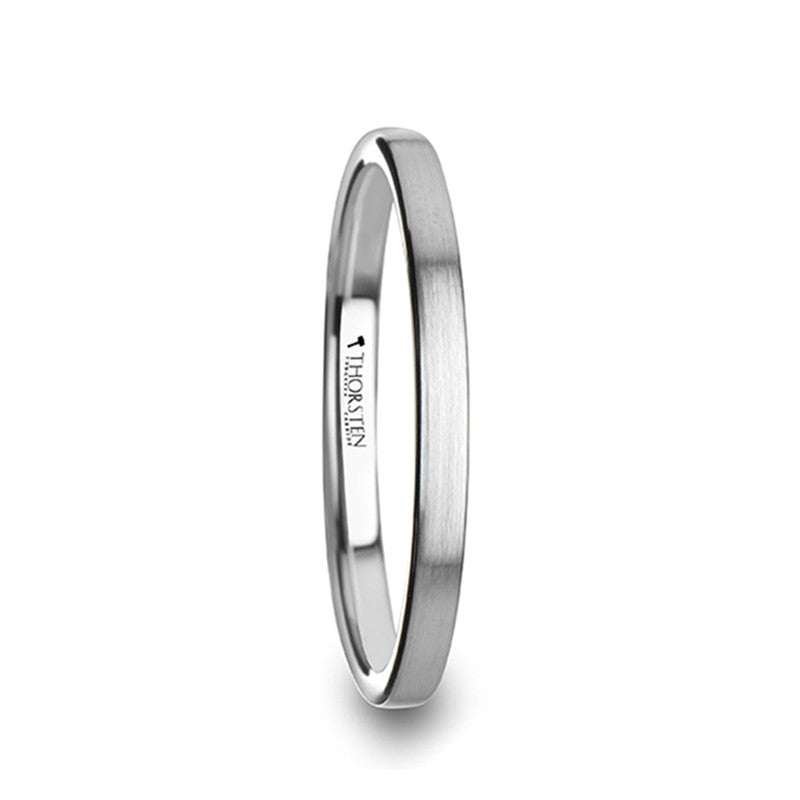 Women's 2mm Tungsten Wedding Ring | Extra Thin