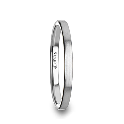 PANDORA Flat Style Womens Tungsten Carbide Ring with Brushed Finish   2mm