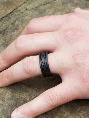 Carbon Fiber Ring for Men Lifestyle 2