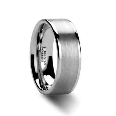 Tungsten Wedding Ring Flat