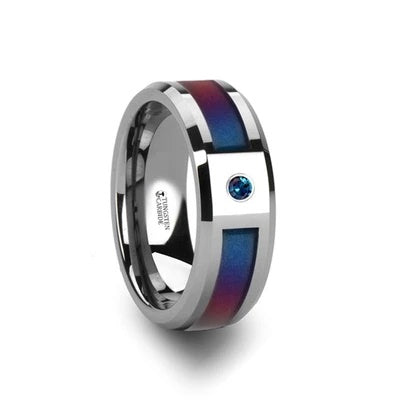 Men's Wedding Band with Gemstone